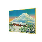 Timberline Lodge in Winter at Mt. Hood Canvas Print