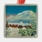 Timberline Lodge in Winter at Mt. Hood Christmas Ornament