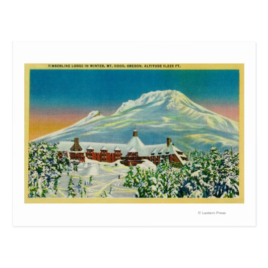 Timberline Lodge in Winter at Mt. Hood Postcard