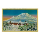 Timberline Lodge in Winter at Mt. Hood Poster
