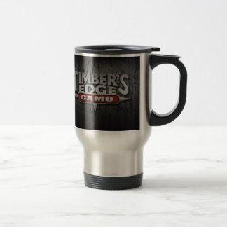 Timber's Edge Camo Bark logo Travel mug