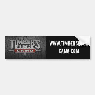 Timber's Edge Camo Bumper Sticker Car Bumper Sticker