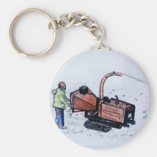 Timberwolf wood chipper key ring