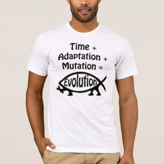 Time + Adaption + Mutation = Evolution T-Shirt