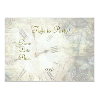 Time After Time 13 Cm X 18 Cm Invitation Card