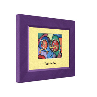 TiMe AfTeR TiMe Purple Yellow Canvas Wall Art Canvas Prints
