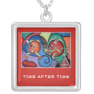 Time After Time - Time Pieces Bright Colors Silver Plated Necklace