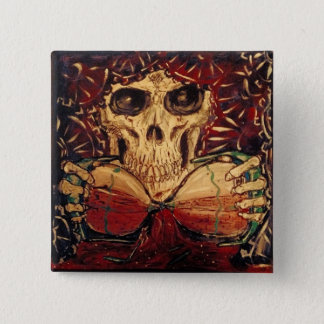 time and death 15 cm square badge