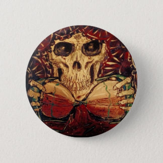 time and death 6 cm round badge