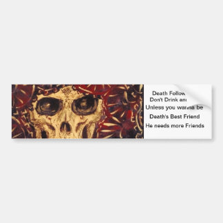 time and death bumper sticker