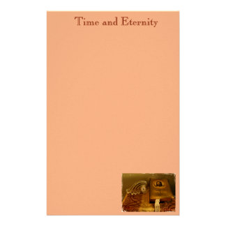 """""""Time and Eternity"""" Personalized Stationery"""