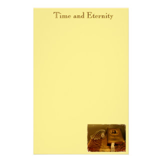 """""""Time and Eternity"""" Customized Stationery"""