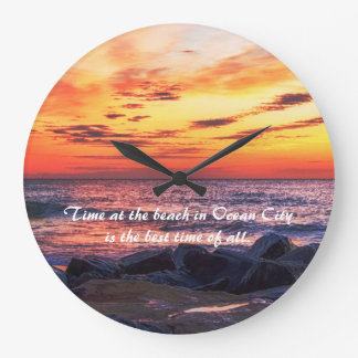 Time at the Beach in Ocean City Wall Clock