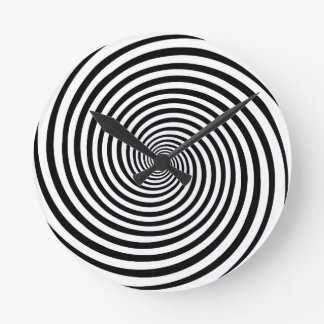 Time Bending Hypnosis Spiral Round Clock