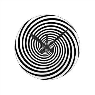 Time Bending Hypnosis Spiral Wallclocks