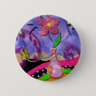 time bomb 6 cm round badge