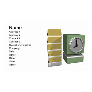 Time Clock Pack Of Standard Business Cards