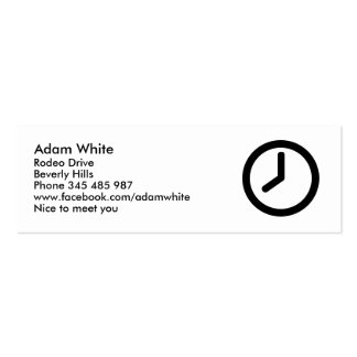 Time clock business cards