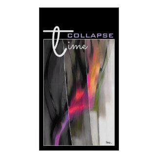 Time Collapse Abstract Painting Art Print