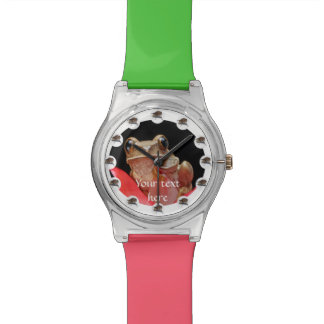 Time Flies Frog Fun Custom Watch