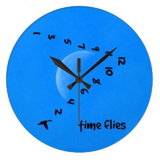 Time flies in the sky clocks