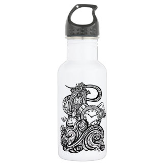 Time Flies Intricate Clock Tower illustration 532 Ml Water Bottle