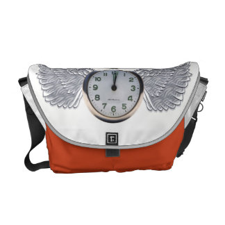 Time flies Messenger Bag