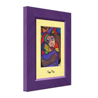 TiMe FliEs Purple Yellow Canvas Wall Art Canvas Prints
