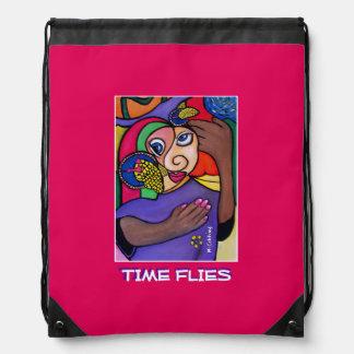 Time Flies -Time  Pieces Drawstring Bag