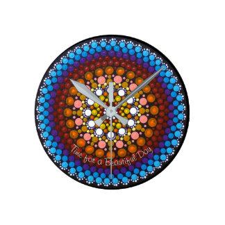 Time for a Beautiful Day Mandala Clock