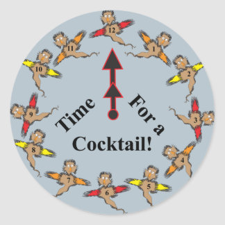 Time for a Cocktail! Classic Round Sticker