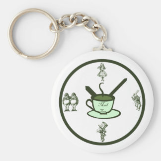 Time for a Mad Tea Party Key Ring