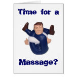 Time for a Massage? blank inside I n... Greeting Cards