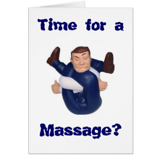Time for a Massage? blank inside I n... Note Card