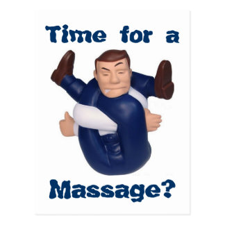 Time for a Massage? postcard I
