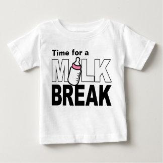 Time for a Milk Break (pink baby bottle) Tshirt