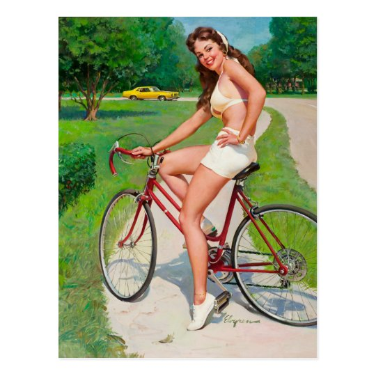 Time for a Ride - Retro Pin-up Girl