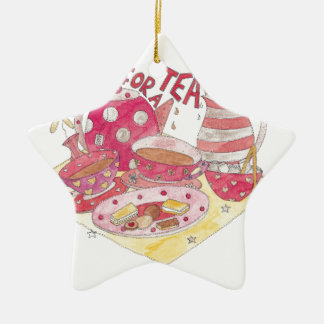 Time For A Tea Party Christmas Ornament