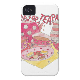 Time For A Tea Party iPhone 4 Case
