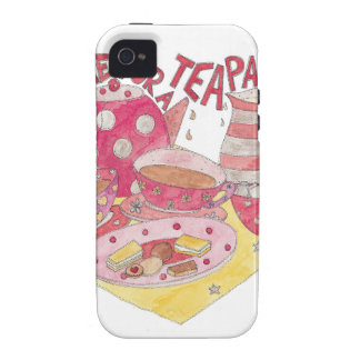 Time For A Tea Party iPhone 4 Cases