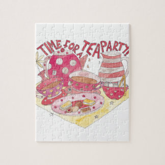 Time For A Tea Party Jigsaw Puzzle