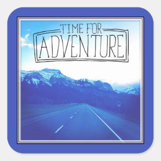 Time For Adventure Square Sticker