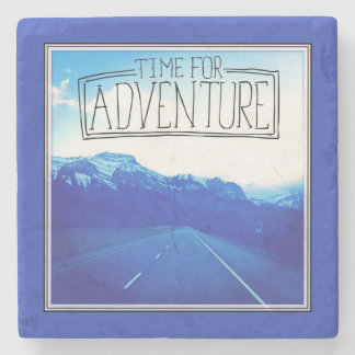 Time For Adventure Stone Beverage Coaster