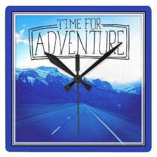 Time For Adventure Wallclock