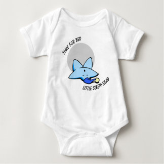 Time For Bed Vest Baby Bodysuit