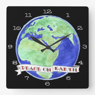 Time for Change Peace on Earth Clock