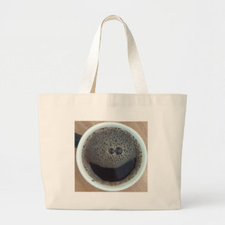 Time for coffee smiley face tote bag
