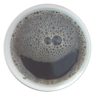 Time for coffee smiley face party plate