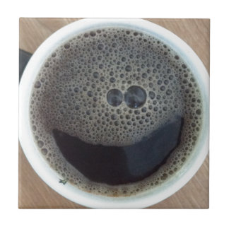 Time for coffee smiley face tile