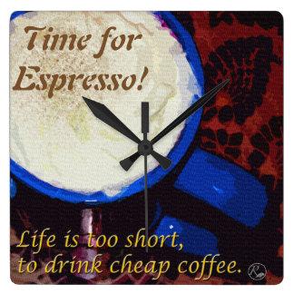 Time for Espresso! Clock